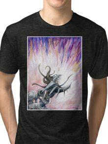 Screaming Mechanoid Cyborg Tri-blend T-Shirt