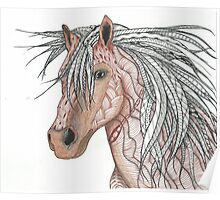 Horse done in Zentangle Poster