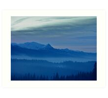 Views 5442 *** Winter landscape  - Tatra Mountains . Poland .  tribute to Gershwin plays Gershwin: Rhapsody in Blue . Made in Andrzej Goszcz .  thanks for viewing !. Art Print