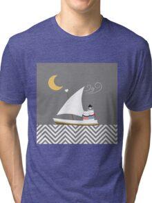 Nautical Cats Tri-blend T-Shirt