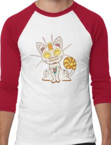 Meowth Pokemuerto | Pokemon & Day of The Dead Mashup Men's Baseball ¾ T-Shirt