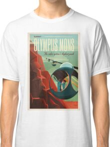 THE VOLCANO OF MARS - Olympus Mons | Space | X | Retro | Vintage | Futurism | Sci-Fi Classic T-Shirt