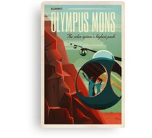 THE VOLCANO OF MARS - Olympus Mons | Space | X | Retro | Vintage | Futurism | Sci-Fi Canvas Print