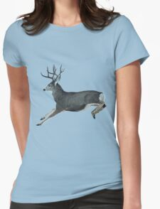 Mule deer motion  Womens Fitted T-Shirt