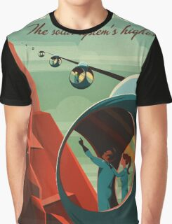 THE VOLCANO OF MARS - Olympus Mons | Space | X | Retro | Vintage | Futurism | Sci-Fi Graphic T-Shirt