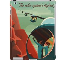THE VOLCANO OF MARS - Olympus Mons | Space | X | Retro | Vintage | Futurism | Sci-Fi iPad Case/Skin