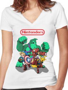 Nintenders Women's Fitted V-Neck T-Shirt