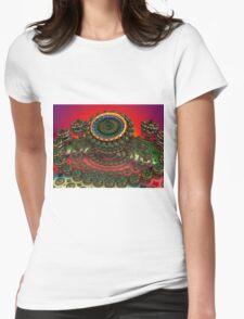 Fiery Sunset Womens Fitted T-Shirt