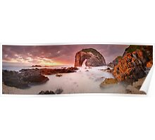 Horse Head Rock Dawn, Bermagui, New South Wales, Australia Poster