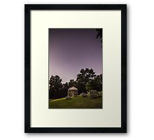 Clear starry night sky at Evans City Cemetery Chapel home of Night of the Living Dead 0375-A Framed Print
