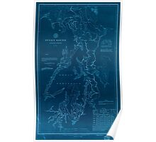 Civil War Maps 1495 Puget Sound Washington Territory Inverted Poster