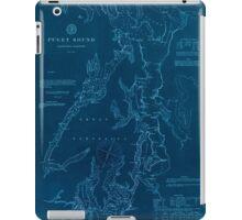 Civil War Maps 1495 Puget Sound Washington Territory Inverted iPad Case/Skin