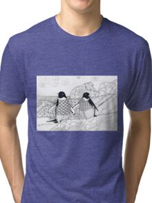 Two Penguins in wait. Tri-blend T-Shirt