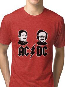 AC DC Tesla Edison Tri-blend T-Shirt