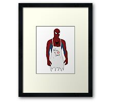 Kiss the Spidey Chef Framed Print