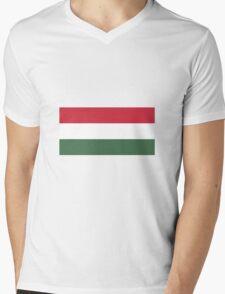 Hungary Flag Mens V-Neck T-Shirt