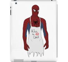 Kiss the Spidey Chef iPad Case/Skin
