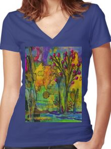 Our Secret Place Women's Fitted V-Neck T-Shirt