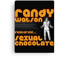 Sexual Chocolate Band Tee Canvas Print