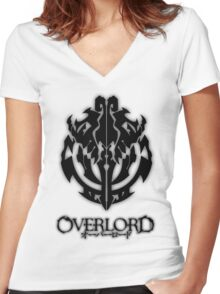 Overlord Anime Guild Emblem - Ainz Ooal Gown Women's Fitted V-Neck T-Shirt