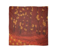 Cedar Wattle Fire Fall Colors  Scarf