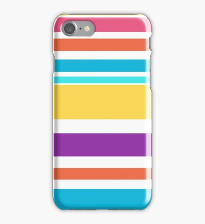 Happy summer stripes pattern  iPhone Case/Skin