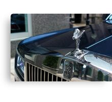 "Rolls-Royce Wraith ""Inspired By Fashion"" - Spirit of Ecstasy  Canvas Print"