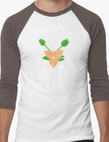 Orange Flower Men's Baseball ¾ T-Shirt