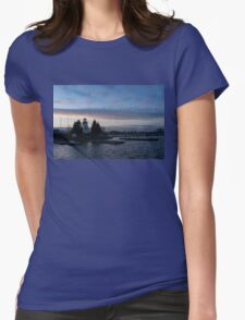 Blue and Rose Serenity Womens Fitted T-Shirt