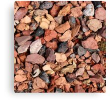COLORED ROCKS Canvas Print