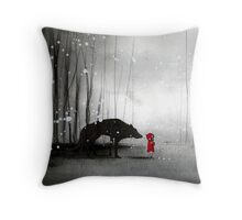 Little Red Riding Hood - In Denial Throw Pillow