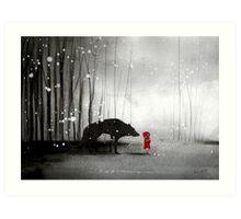 Little Red Riding Hood - In Denial Art Print