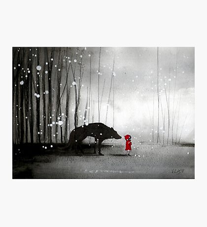 Little Red Riding Hood - In Denial Photographic Print