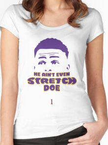 D'Angelo Russell LA Lakers Women's Fitted Scoop T-Shirt