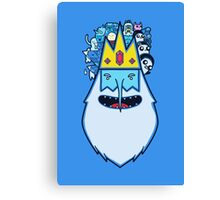 King of the ice Canvas Print