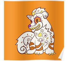Growlithe Pokemuerto | Pokemon & Day of The Dead Mashup Poster
