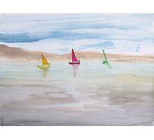 Three Sail Boats. Photographic Print