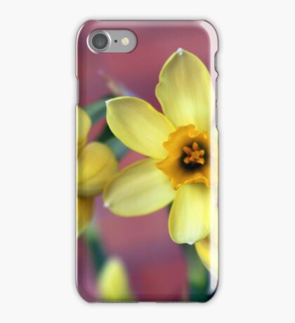 Bright Yellow Happy Daffodils iPhone Case/Skin