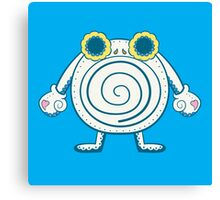 Poliwhirl Pokemuerto | Pokemon & Day of The Dead Mashup Canvas Print