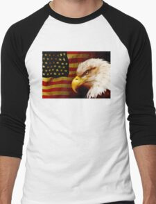 Bald eagle with flag T-Shirt