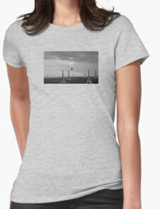 Eiffel Attack! Womens Fitted T-Shirt