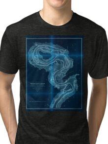Civil War Maps 1168 Mississippi River Inverted Tri-blend T-Shirt