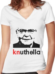 knuthella Women's Fitted V-Neck T-Shirt