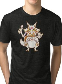 Kadabra Pokemuerto | Pokemon & Day of The Dead Mashup Tri-blend T-Shirt