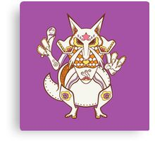 Kadabra Pokemuerto | Pokemon & Day of The Dead Mashup Canvas Print