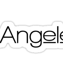 Los Angeles City of Angels Palm Trees in Paradise Sticker