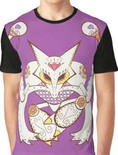 Alakazam Pokemuerto | Pokemon & Day of The Dead Mashup Graphic T-Shirt