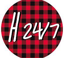 H 24/7 Logo by hozier247shop
