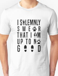 I Solemnly Swear That I'm Up To No Good Mauraders Quote Geeky Fandom T-Shirt