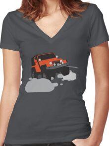 Wrangler in the orange Women's Fitted V-Neck T-Shirt
